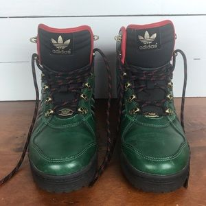 Adidas Winter Ball Hiking Boots in green.